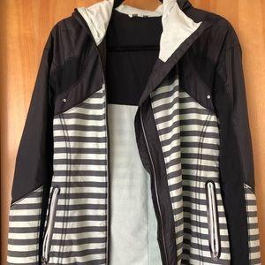 Lululemon Get up and Run Striped Reflective Jacket